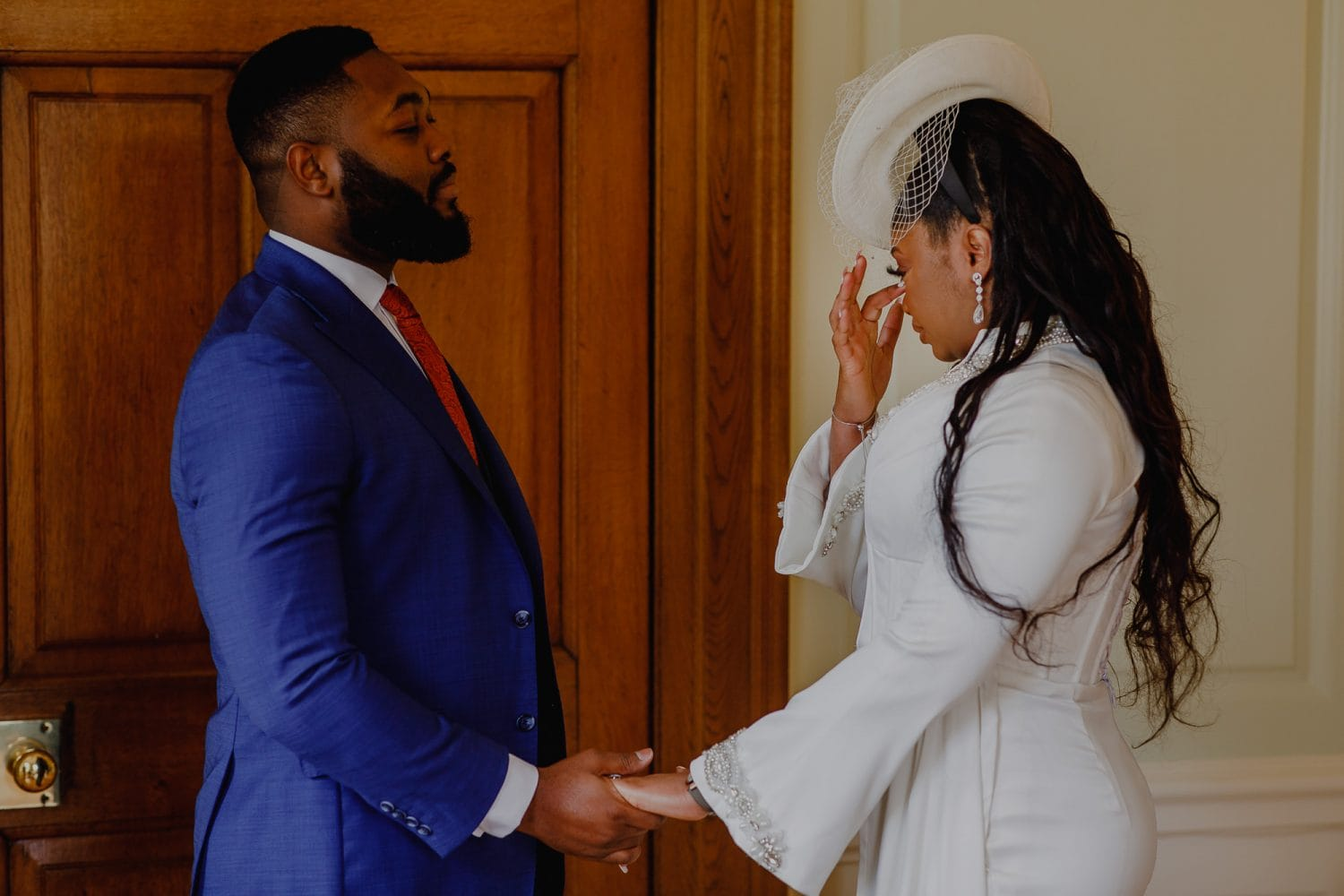 The Brides gets emotion when she says 'I do' to her Groom.