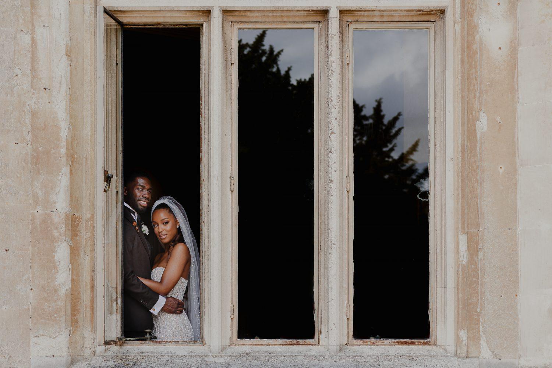 Bride and Groom portrait at Ashridge House