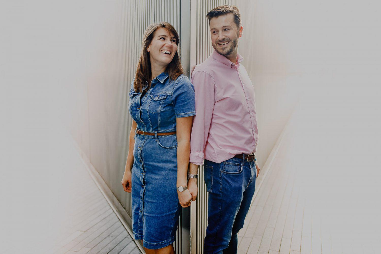 Central London Pre-Wedding portrait of couple